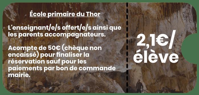 École primaire du Thor Grottes de Thouzon