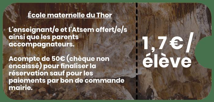 École maternelle du Thor Grottes de Thouzon